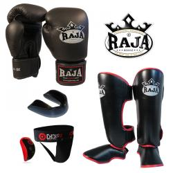RAJA: THAIBOXNINGSPAKET - SVART (medium, large, 16oz)